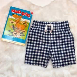 Carter's • Navy Plaid Shorts